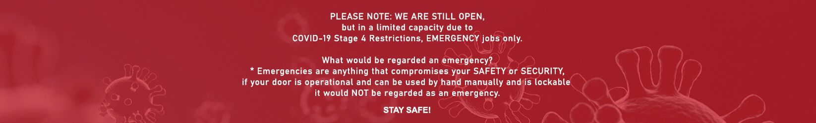 Industrial Roller Door Repair - Covid-19 Notice